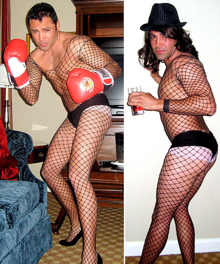 oscar de la hoya cross dressing